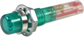 IND515205-1440-T/GRN, Лампа накаливания, 6.35 мм, 40 мА, 14 В