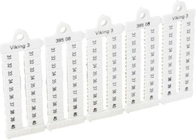 Пластина маркиров. Viking3 шаг 5мм цифры 31-40 горизонт. Leg 039508