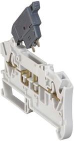 Клемма пруж. Viking3 2.5кв.мм шаг 6мм с предохранителем 5х20 Leg 037281