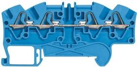 Блок клеммный Viking3 4кв.мм шаг 6мм 2вх./2вых. для нейтрали Leg 037247
