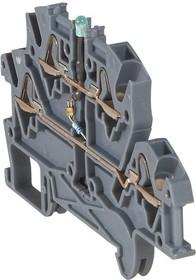 Блок клеммный Viking3 4кв.мм шаг 5мм 2 яруса с диодом Leg 037255