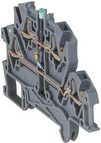 Блок клеммный Viking3 4кв.мм шаг 5мм 2 яруса светодиод Leg 037256