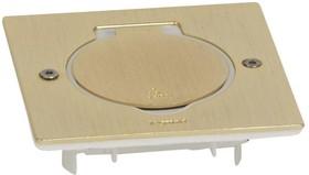Блок встраиваемый 2м IP44 квадратный бронз. Leg 089710