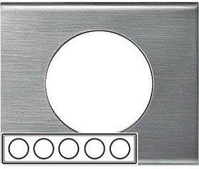Рамка 5-м Celiane фактурная сталь Leg 069110