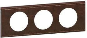 Рамка 3-м Celiane текстура кожи корич. Leg 069403