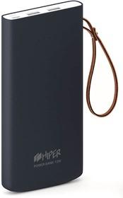 Фото 1/3 TRAVEL10K BLUE, Аккумулятор HIPER Внешний аккумулятор HIPER TRAVEL 10K Li-Pol 10000 mAh Soft-touch 3A+3A 2xUSB 1xTyp