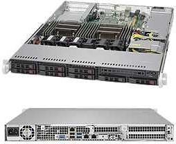 CSE-113AC2-605WB, Корпус компьютерный Supermicro 1U SC113 WIO Chassis w/ 600W (Quick Release Rail Set)