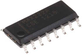 MAX232ACSE+T, DUAL TRANSMITTER/RECEIVER RS232 SOIC16