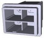 Фото 1/2 1-917808-2, Conn Housing PL 4 POS 10.16mm Crimp ST Cable Mount Black Bag