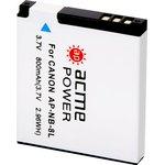 Аккумулятор для компактных камер AcmePower AP-NB-8L для: Canon PowerShot A2200/A3000IS/A3100IS/ A3200IS/A3300IS