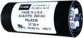 PSU12430A, ALUMINUM ELECTROLYTIC CAPACITOR 124-149UF 330V, 20%, QC