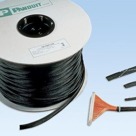 SE125P-LR0, Cable Accessories Braided Expandable Sleeving Polyethylene Terephthalate Black Reel