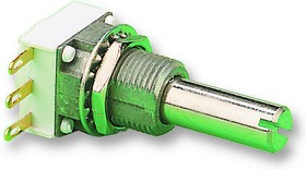 P11S1A0BGSY00504KA, Поворотный потенциометр, металлокерамический, 500 кОм, 1 Вт, ± 20%, Серия P11S, 1 виток(-ков)