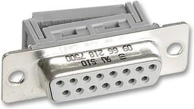 09 66 118 7500, Разъем D Sub, DB9, Standard, Гнездо, Серия D Tin And Dimple, 9 контакт(-ов), DE, IDC / IDT