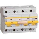 Выключатель автоматический модульный 4п C 63А 10кА ВА47-100 IEK MVA40-4-063-C
