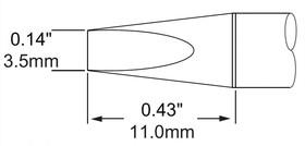 Картридж-наконечник для MFR-H1, клин 3.5х11мм SFP-CH35