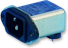 FN9226-10-06, IEC фильтр, 47000 пФ, 250 В, IEC, Сетевой, 10 А, Быстрое Соединение, 270 мкГн