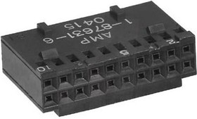 1-87631-5, WIRE-BOARD CONNECTOR RECEPTACLE 20 POSITION, 2.54MM