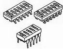 1825360-5, Switch DIP OFF ON SPST 8 Raised Slide 0.1A 24VDC PC Pins 2.54mm Thru-Hole Tube