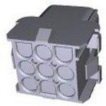 Фото 3/5 350782-1, Корпус разъема Universal MATE-N-LOK, розетка 9PIN, Matrix (Nylon, UL 94V-0) без контактов