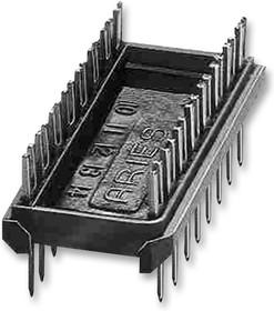 24-600-10, ИС и гнездо компонента, 24 контакт(-ов), Гнездо DIP, 2.54 мм, Серия 600, 15.24 мм, Латунь