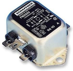 FN2020-6-06, Фильтр ЛЭП, монтаж на каркас, 6 А, 250 В AC, Универсальный, Быстрое Соединение, 1 мГн, 0.15 мкФ