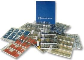 CCC-16, Комплект конденсаторов, миниатюрные цилиндрические, 1 лист FL16/20, 16 значений, 0.1мкФ до 100мкФ