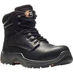 VR600.01/07, Bison Black Composite Toe Safety Shoes, UK 7