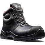 V6863.01/09, Rhino Black Composite Toe Safety Shoes, UK 9