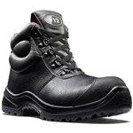 V6863.01/08, Rhino Black Composite Toe Safety Shoes, UK 8
