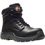 V6863.01/06, Rhino Black Composite Toe Safety Shoes, UK 6