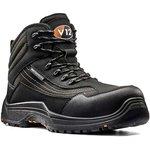 V1501.01/08, Caiman Black Composite Toe Safety Shoes, UK 8