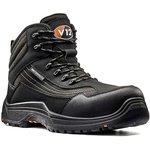V1501.01/09, Caiman Black Composite Toe Safety Shoes, UK 9