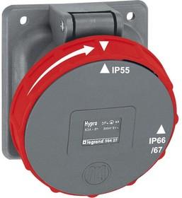 Розетка Hypra 63А 400В 3K+3 IP67 Leg 059427
