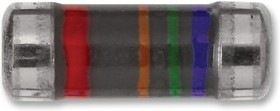 MMU01020C6200FB300, MELF резистор поверхностного монтажа, 620 Ом, 100 В, 200 мВт, ± 1%, Серия MMU 0102