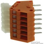 0233-0506, TERMINAL BLOCK, PCB, 6 POSITION, 28-20AWG