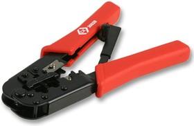 Фото 1/2 430028, Инструмент для обжима, Трещетка, Модульными штекерами