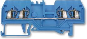 Клемма WAGO 0.08-2.5мм2 4-х провод. Синий