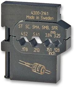 """4300-3140/AAA, Матрица обжимного инструмента, 0.028"""" до 0.178"""" RG174, RG179 Коаксиальный с BNC, TNC RF Разъемами"""