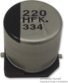 EEEFKC470UAR, SMD электролитический конденсатор, Radial Can - SMD, 47 мкФ, 16 В, Серия FK