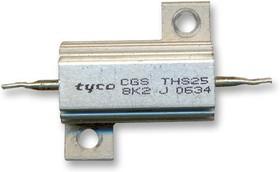 Фото 1/2 THS255R6J, Резистор, с осевыми выводами, 5.6 Ом, Серия THS, 25 Вт, ± 5%, Лепесток для Пайки, 550 В