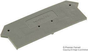 280-316, Connector Accessories End and Intermediate Plate Straight Gray Box