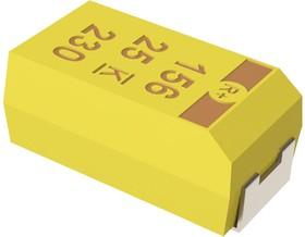 T495D477K006ATE125, Surface Mount Tantalum Capacitor, 470 мкФ, 6.3 В, Серия T495, ± 10%, 2917 [7343 Метрический]