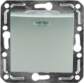 V01-15-P12-M (Переключатель/ выкл.проходной 1-кл. с инд. Argento(серебро), м-зм, Magenta)
