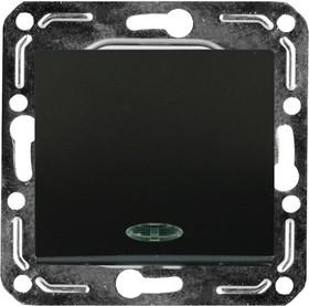 V01-14-P12-M (Переключатель/выкл. проходной 1-кл. с инд. (Nero), м-зм, Magenta)