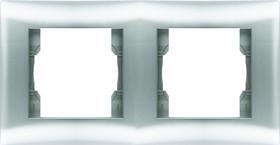 V01-15-A21-M (Рамка 2-мест.Argento(серебро), Magenta )