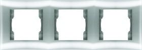 V01-15-A31-M, Рамка 3-мест.Argento(серебро), Magenta