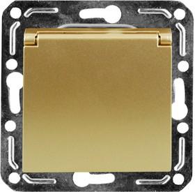 V01-16-R18-M (Розетка 1-мест. с зазем. и крышкой (Dorado), м-зм, Magenta )
