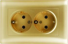 V01-16-R24-S (Розетка 2-мест. с зазем.(Dorado), в сб. Magenta )