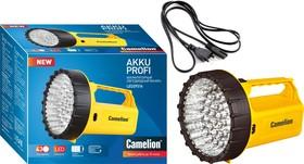 LED29316 (фонарь аккум. 220В, желтый, 43 LED, 6В 4А-ч, пластик, коробка)